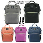 LEQUEEN Mommy Diaper Bag Multifunction Baby Nappy Backpack  Stroller Hooks