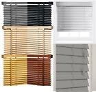 Fauxwood  Wooden And Pvc  Venetian Window Blinds Drop 150 & 213cm  Easy Fit