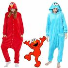 Adult Sesame Street Elmo Cookie Monster Costume Pajamas Pajamas Sleepwear Cute