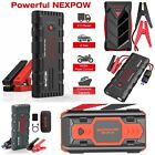 NEXPOW 2500A - 1000A Peak Safety Portable Car Cables Jump Starter Battery GIFT