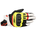 Alpinestars SP-5 Glove Black Fluo Yellow Leather Sport Motorcycle Gloves New