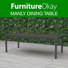 Manly Aluminium Outdoor Dining Table Patio Garden Furniture Charcoal