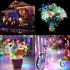 LED Fairy String Hanging Icicle Snowing Curtain Light Outdoor Xmas Party Lights