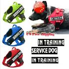 Dog Pet Harness Reflective Service Walking Emotional Vest & 2 Removable Patches