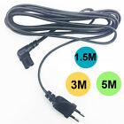 3M 5M Angled EU AC Power Supply Cable Cord 2 Pin to Figure 8 C7 Plug for PS4 TV