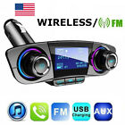 USA Wireless Car FM Transmitter MP3 Player AUX Radio Adapter Phone Fast Charger