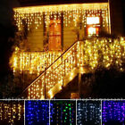 Twinkle LED Light Icicle Curtain Lamp Christmas Garland New Year String Holiday