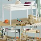 Childrens Cabin Bed Single Bunk Beds Kids Loft Mid Sleeper Wood Bed Frame 3FT