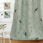 Blockout Curtains Living Room Birds Printed Vintage Curtain Draperies Thick Soft