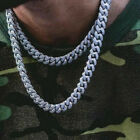 Men's Iced Out Diamond Thick Miami Cuban Link Chain Necklace Cool Hiphop Jewelry