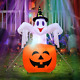 AerWo 4.7ft Halloween Inflatables Blow Up Yard Decorations, Upgraded Ghost on Pu