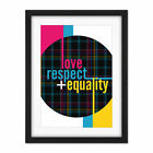 Who+Cares+Scotland+Love+Respect+Equality+Tartan+Framed+Wall+Art+Print+18X24+In
