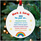PERSONALISED Lockdown 2020 Christmas Decoration Lockdown Memories Rainbow Bauble