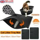 CAT LITTER CATCHER TRAY MAT leather TWO LAYERS KITTEN SCATTER CONTROL PAW CLEAN
