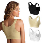 Women's Posture Corrector Bra Wireless Back Support Lift Up Front Closure Bra