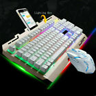 Rainbow Gaming Keyboard And Mouse Set Multi-Color Changing Backlight Mouse