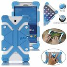 "For 7"" 8"" 9"" 10"" 10.1"" Tablet Case Universal Silicone Gel Cover With Bracket US"