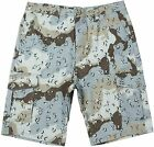 LRG Men's Camouflage Print 100% Cotton Ripstop Cargo Shorts NWT