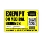 Face Mask Exempt Card Covering Exemption Badge Show Proof Lanyard Holder Display
