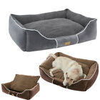 S-XLPet Dog Cat Bed Mat Puppy Cushion Soft House Kennel Blanket W/ Bolsters Lend