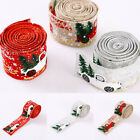 5M Truck With Tree Wide Linen Printed Ribbon Merry Christmas DIY Decoration