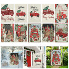 Supplies Merry Xmas Christmas Garden Flag Welcome Farmhouse Red Truck With Tree