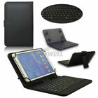 "For Samsung Galaxy Tab A A6 E 7-10.1"" Tablet USB Keyboard PU Case Cover Stand"