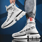 Men's Athletic High Top Shoes Breathable Outdoor Trainers Casual Sneakers Sports