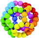 Heimess 735670 Touch Ring Elastic Rainbow Ball, Multicoloured