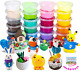 QMAY 24 Colors Modeling Clay Kit, Air Dry Clay Set include Ultra Light Clay, for