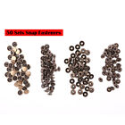 200Pcs Snap Fasteners Kit Metal Buttons Press Stud Nail Leather Bag Jacket 10mm