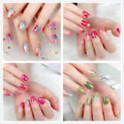 14Pc False Nail Tips Matte Short Full Cover Fake Nails Art Manicure Coffin Oval