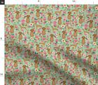 Vizsla Dog Dogs Florals Floral Spring Dog Spoonflower Fabric by the Yard