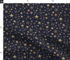 Stars Constellations Space Steampunk Clockwork Spoonflower Fabric by the Yard