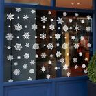 100x Reusable Christmas Window Snowflakes Stickers Clings Decal Xmas Decor New