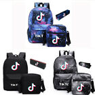 New Tik Tok Kids Bags Shoulder Backpack Pencil Case School Bag Rucksack 3Pcs/Set