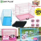 Dog Cage Puppy Pet Crate Carrier w/ Tray- Small Medium Large S M L XL XXL Metal
