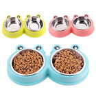 Elevated Cat Bowls with 2 Stainless Steel Bowls, Raised Cat Food and Water