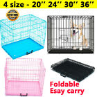 DayPlus Dog Puppy Metal Training Cage Crate Black Pink Blue Carrier S M L XL