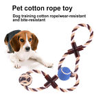 FM_ Bite-resistant Pet Dog Puppy Cotton Knot Rope Chewing Ball Teething Toy Gift