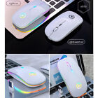 Wireless Gaming Mouse with Colorful Lights Adjustable DPI For Laptop Computer