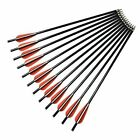 12-18inch Crossbow Bolts Fiberglass Arrows Flat Nock for Archery Outdoor Hunting