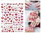 Valentines Day Nail Art Decal Waterproof Sticker Love Fancy Cute Heart Red Lips