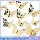 12/24/36pcs 3d Diy Wall Decal Stickers Butterfly Home Room Art Decor Decorations