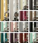 Luxury Faux Silk Fully Lined Ready Made Eyelet Curtains Ring Top With Tie Backs