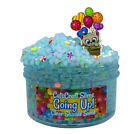 """SCENTED Slushie Blue Clear Slime """"GOING UP"""" Beads Crunchy Sprinkles Charm 6 8 oz"""