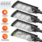 4Pack 90W Outdoor Commercial LED Solar Street Lights Radar Induction Lamp+Remote