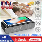 LED QI Wireless Charger Desk Alarm Clock for  iOS/ iPhone 11 Pro X XR XS Max 12