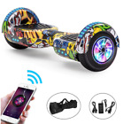 Hoverboard 6.5 Inch Bluetooth Self Balance LED Lights Electric Scooter