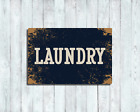 Custom Laundry Room Sign Plaque Vintage Retro Style Metal Kitchen Rustic - Large